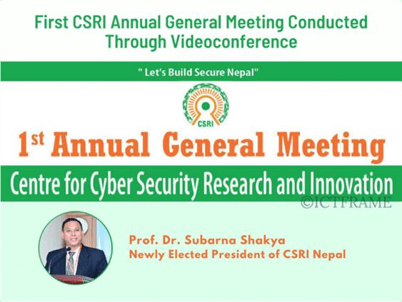 Prof. Dr. Subarna Shakya is the New President of CSRI Nepal