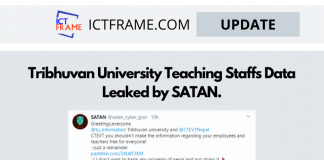 SATAN Leaked Data Of  Tribhuvan University Teaching Staffs