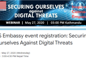 US Embassy event registration: Securing Ourselves Against Digital Threats