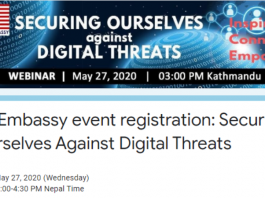 US Embassy event registration: Securing Ourselves Against Digital Threats