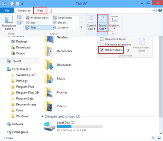 How To View Hidden Files In Windows 10