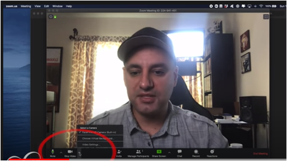 Background Option in zoom