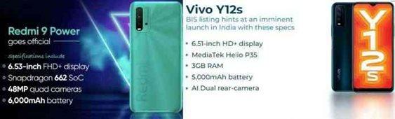 Vivo Y12s vs Xiaomi Redmi 9 Power