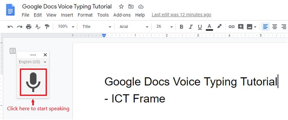 Google Voice Typing Tutorial