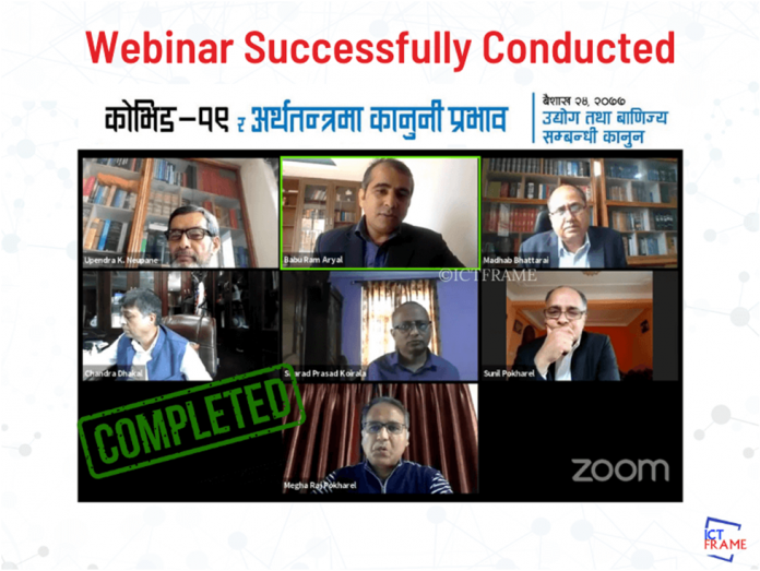 First Webinar Successfully Conducted On Legal Implication of COVID-19