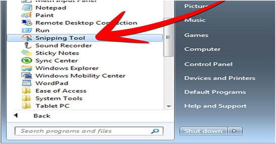 Windows 10 PC with Snipping Tool