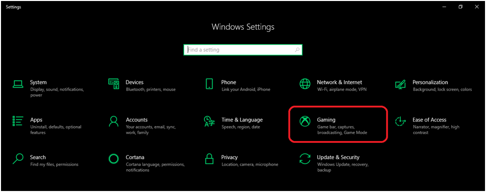 Windows 10 PC with the Game Bar