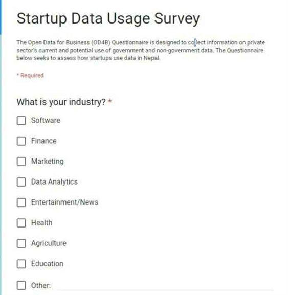 World Bank Announce Startup Data Usage Survey