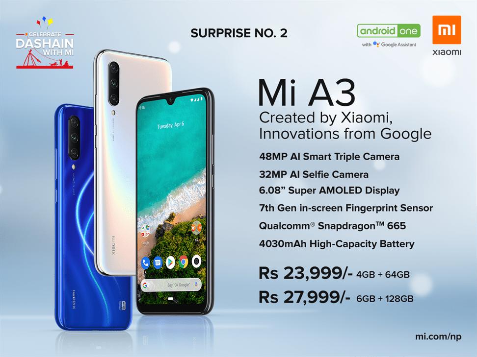 Xiaomi Mi A3 In Nepal