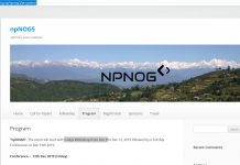 npNOG5 Event Website