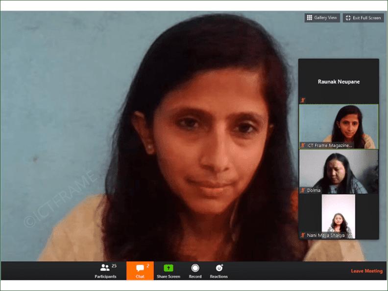 Women in Tech webinar Nepal